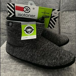 ISOTONER SOFT BOOTIES FOR WOMEN, SIZE LARGE